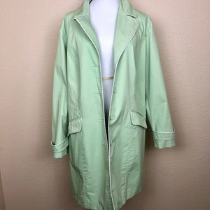 Dennis by Dennis Basso Green Trench Coat